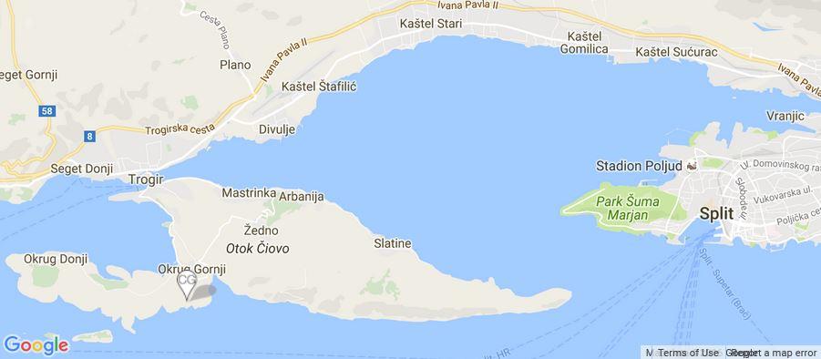 Villa Doriana Map, Okrug Gornji, Split Riviera