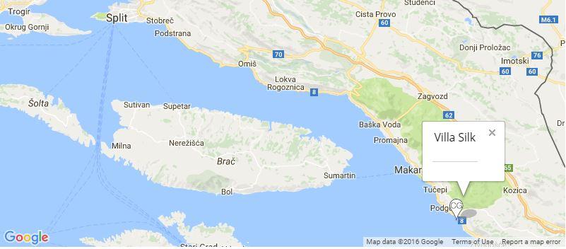 Villa Silk Map, Drasnice, Markarska Riviera