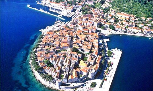 Korcula Town, Korcula Island Aerial