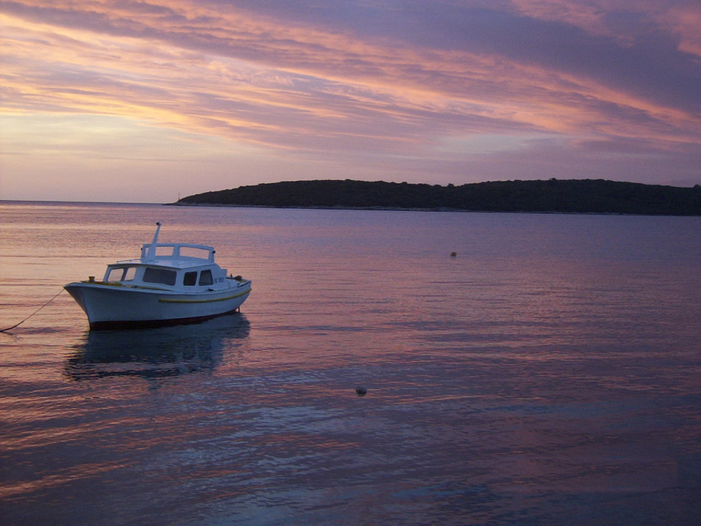 Sunset in Loviste Bay, Peljesac Peninsula