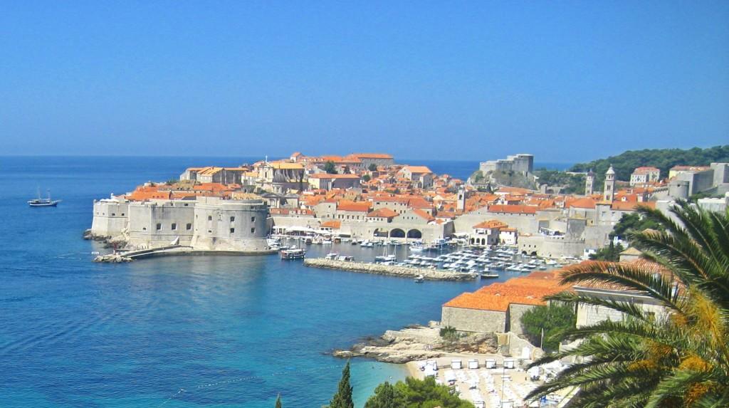 Banje Beach, Dubrovnik Old Town Aerial