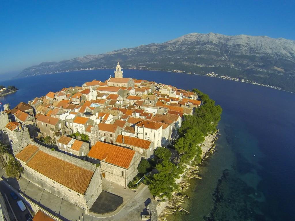 Korcula Town, Dubrovnik Excursion Aerial