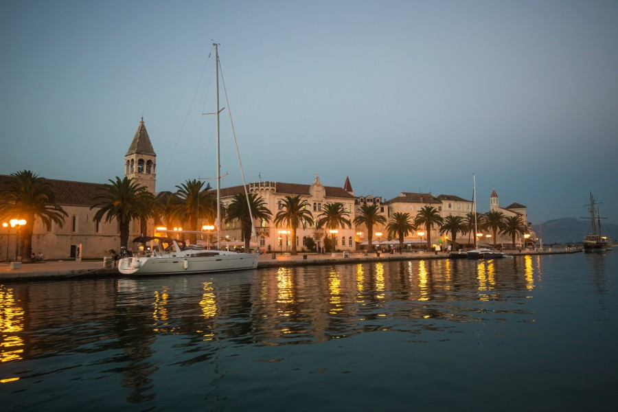 Trogir Old Town at night, Croatia TH