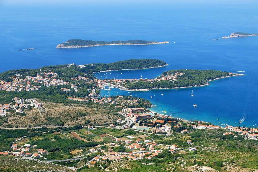 Cavtat Bay, Dubrovnik Riviera, Croatia DI Aerial
