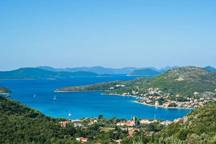 Slano Bay, Dubrovnik Riviera Aerial