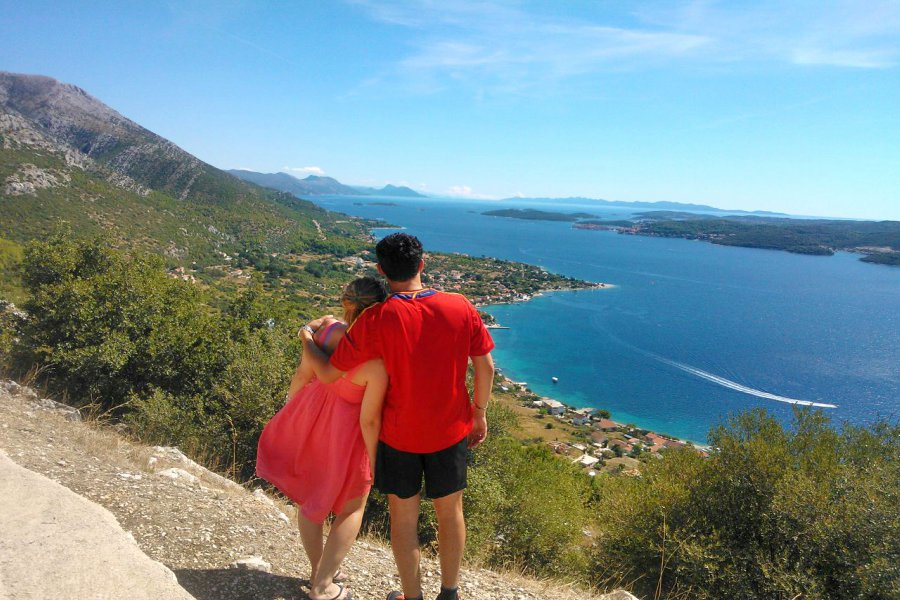 Peljesac Peninsula looking across to Korcula Island TH