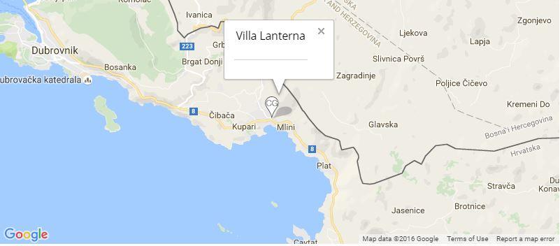 Villa Lanterna Map, Mlini, Dubrovnik Riviera