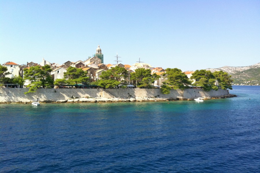 Korcula Old Town from the Sea
