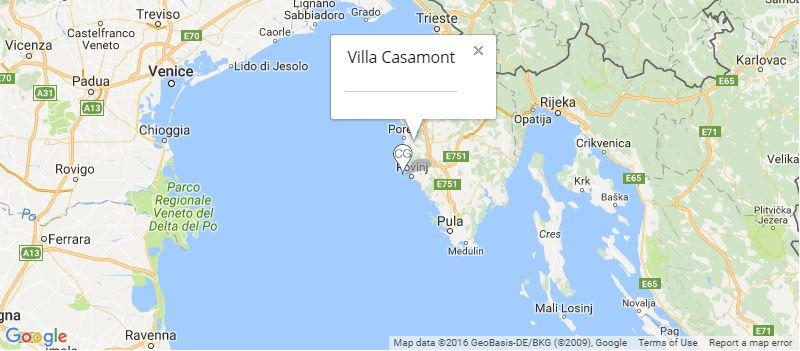 Villa Casamont Map, Near Rovinj, Istria