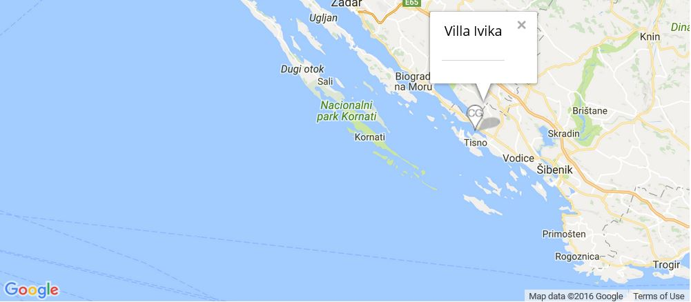 Villa Ivika Map, Pirovac, Vodice, Zadar
