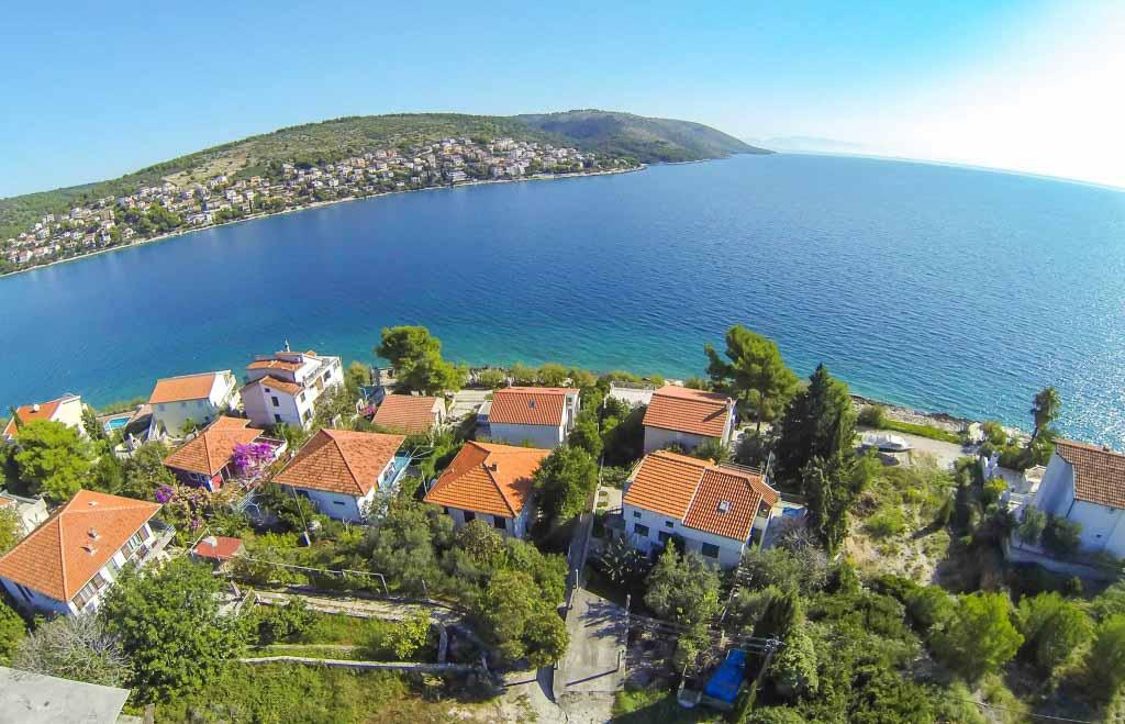Villa-Lotus,-Okrug-Gornji,-Ciovo,-Trogir,-Split-Riviera-(2) Aerial