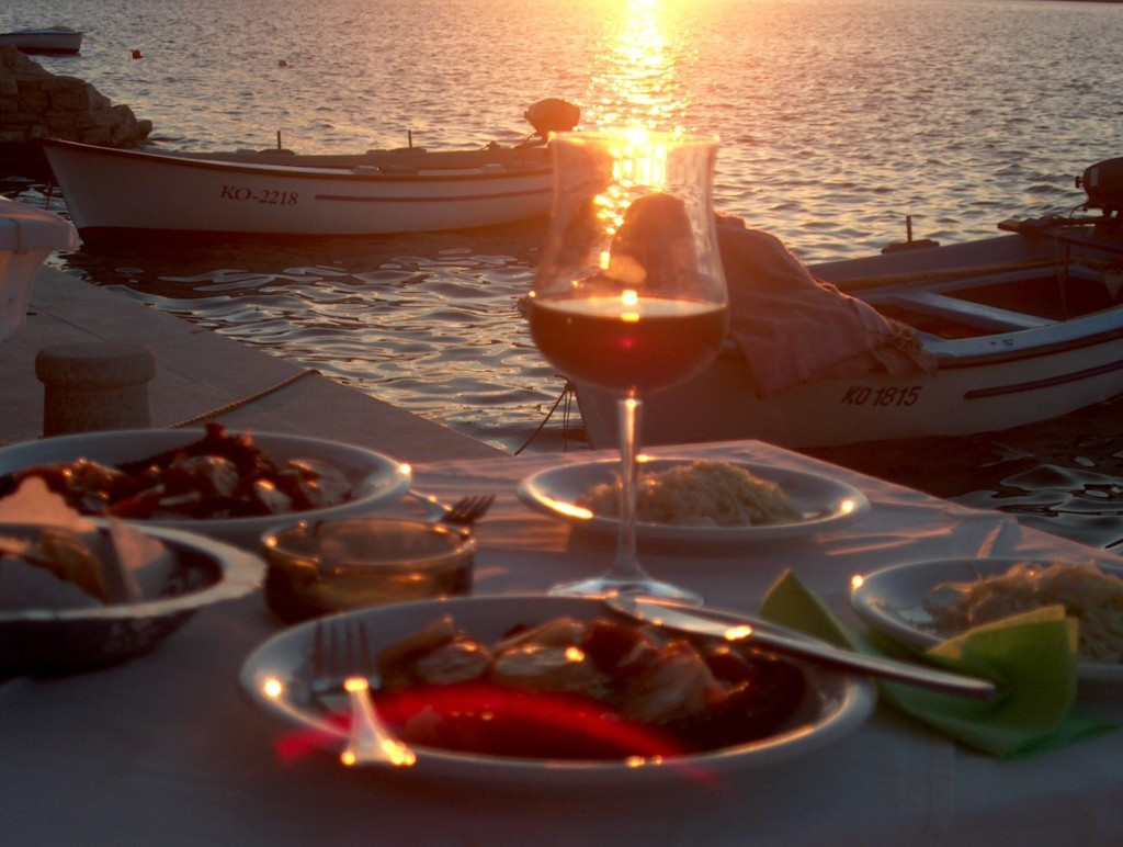 Dinner at Pension Peninsula in Loviste Bay, Peljesac Peninsula