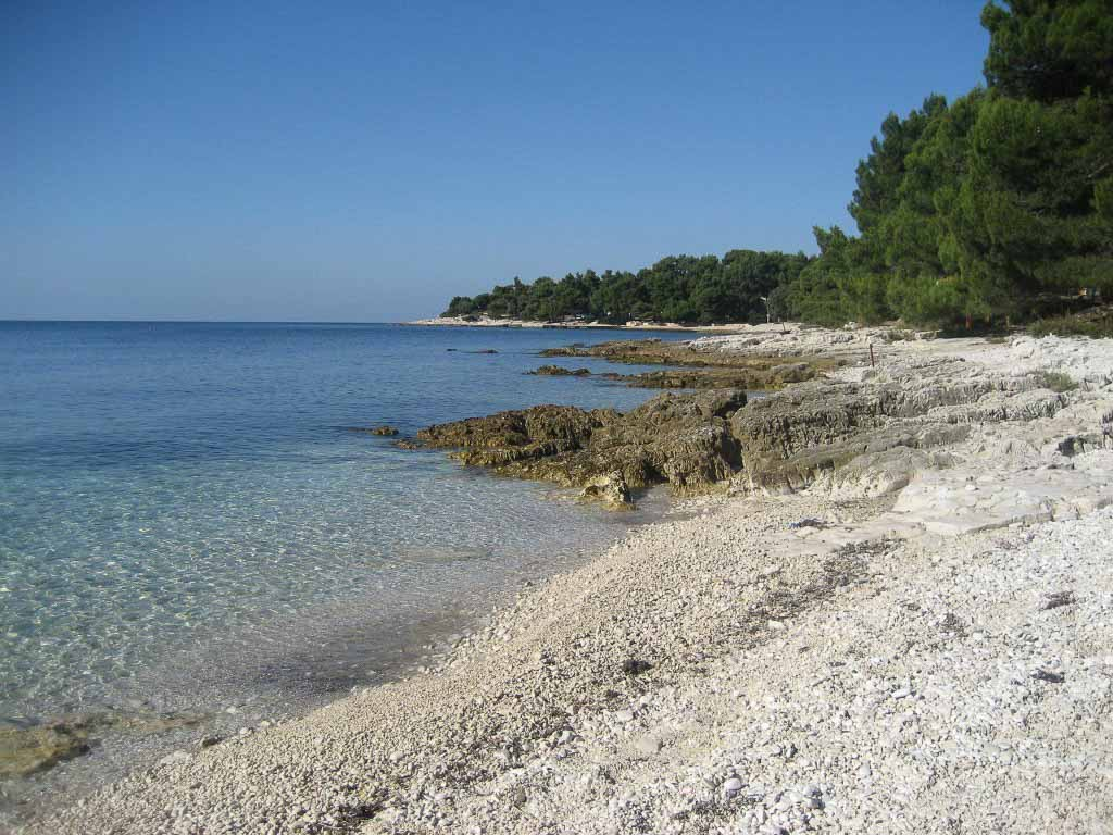 Beach near Rovinj, Istria