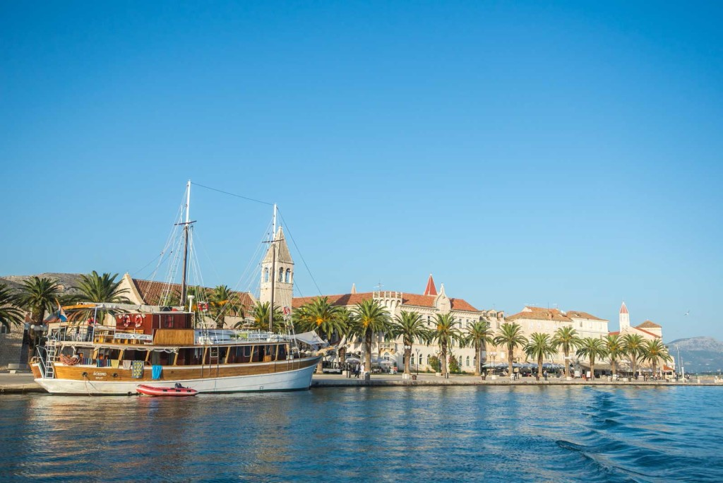 Trogir Old Town by Boat (1) Aerial