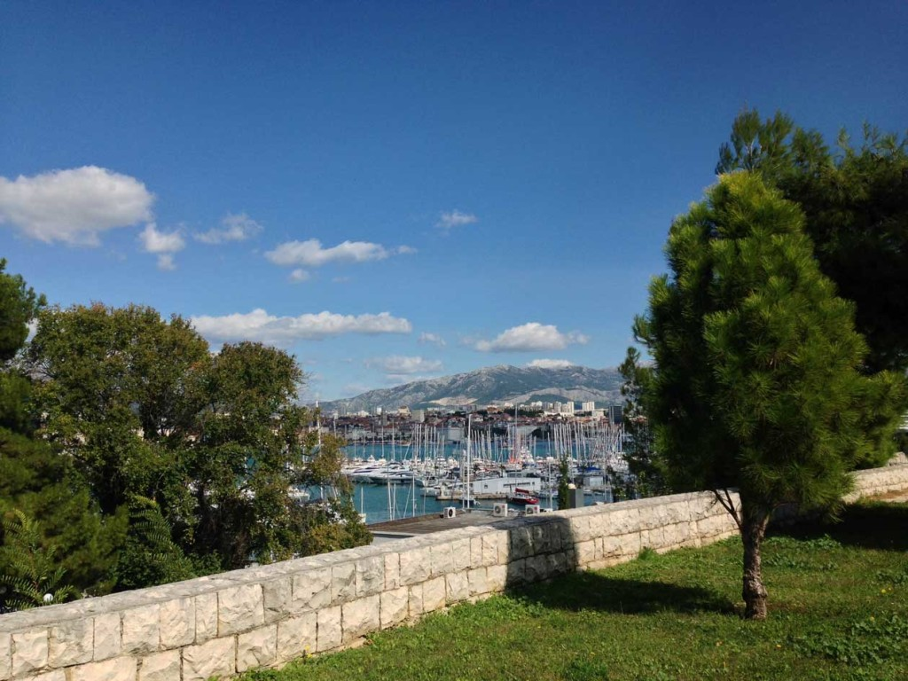View to Split Harbour from Sustjepan Park