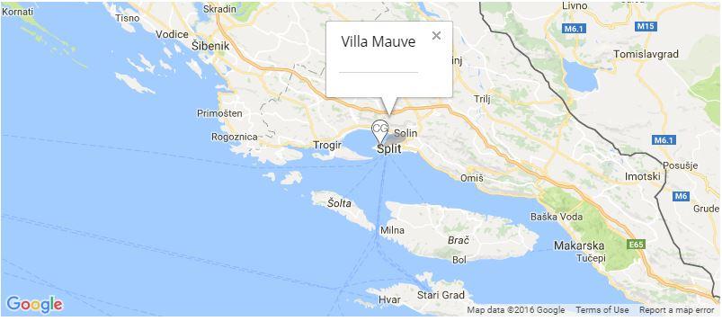 Villa Mauve Map, Split, Split Riviera