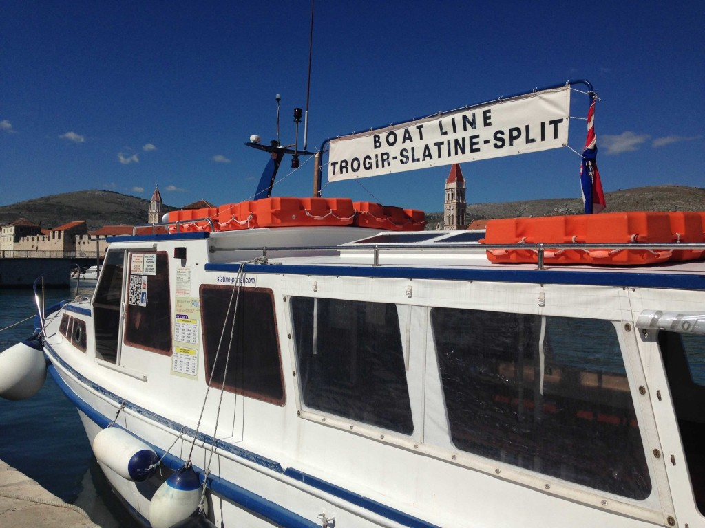 Water Taxi from Trogir to Slatine & Split