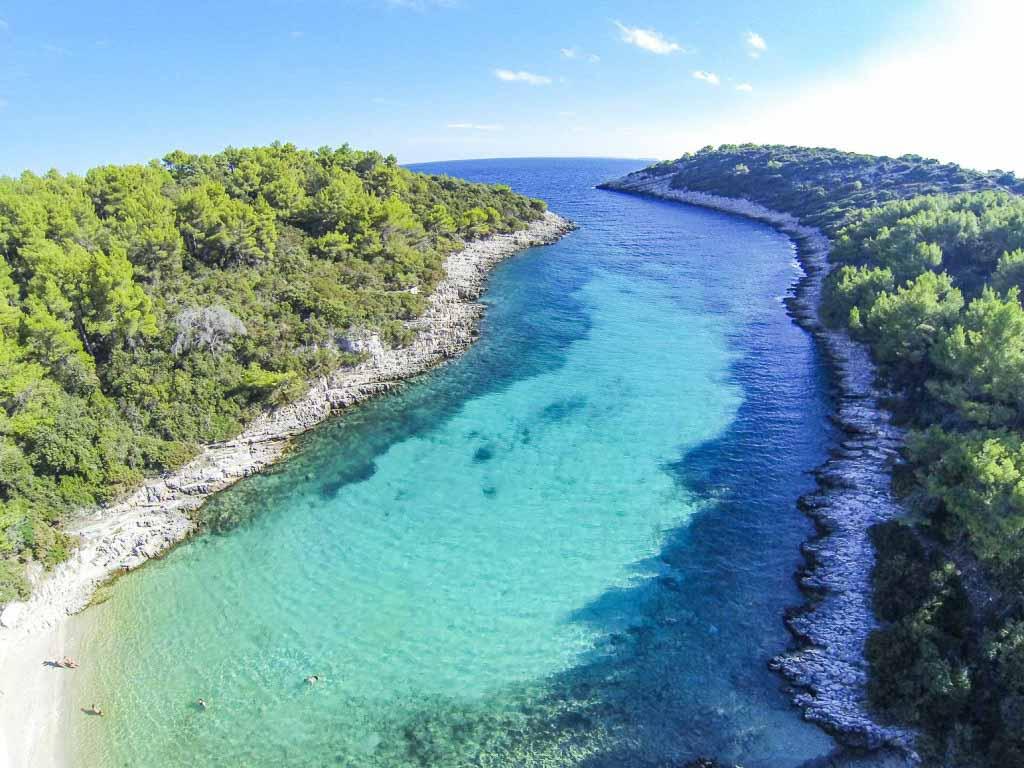 Zitna Beach, Zavalatica, Korcula Island (5) Aerial