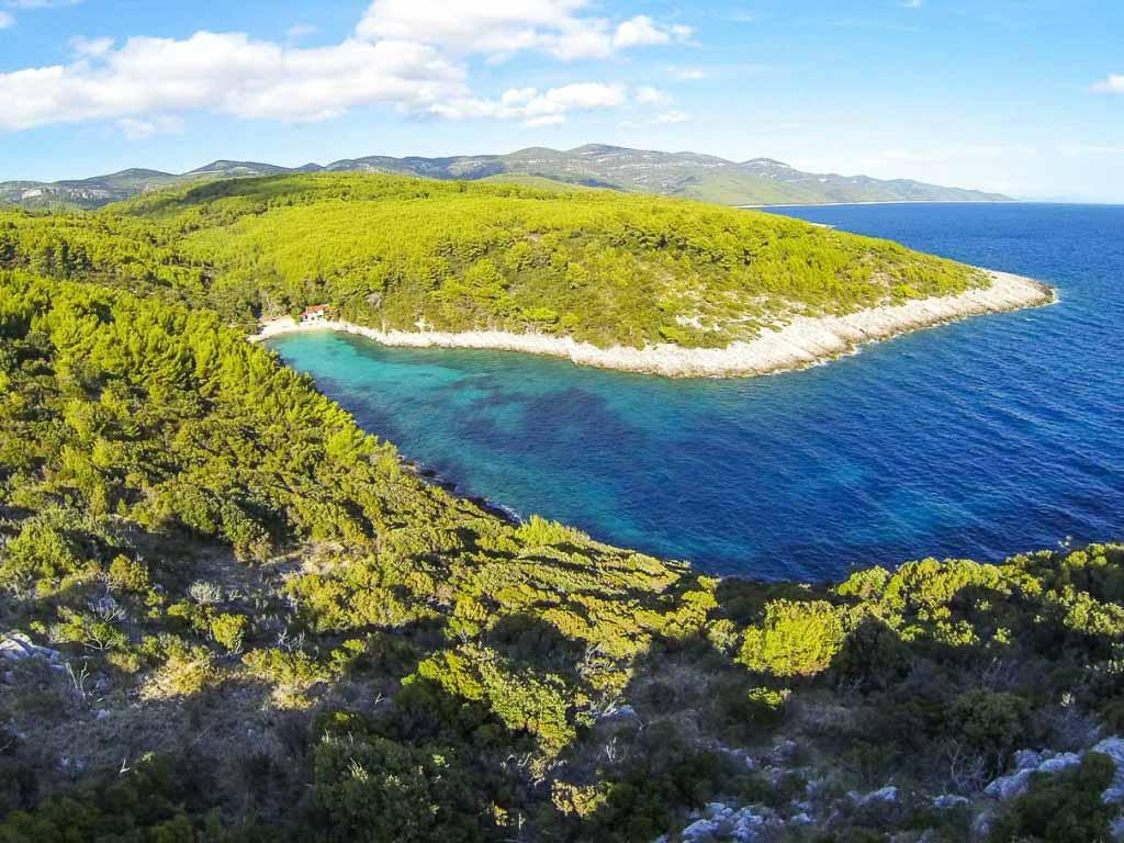 Zitna Beach, Zavalatica, Korcula Island (6) Aerial