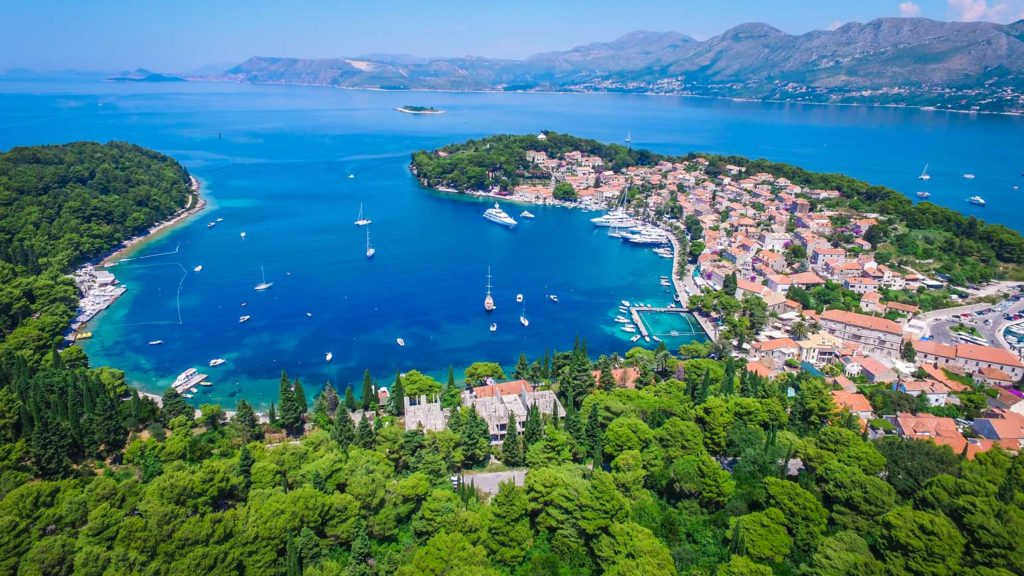 Cavtat Bay, Dubrovnik RiivieraAerial