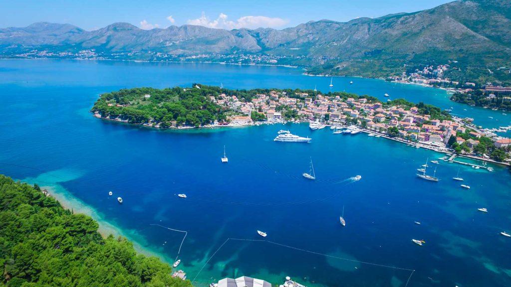 Cavtat Bay, Dubrovnik Riiviera Aerial