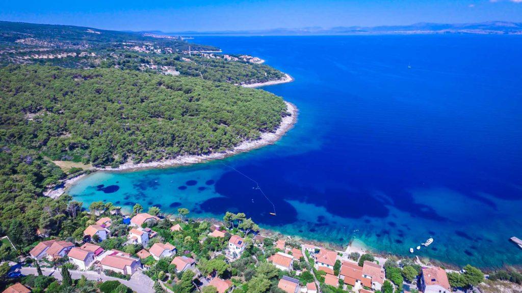 postira-beach-splitska-beach-brac-island-1 Aerial
