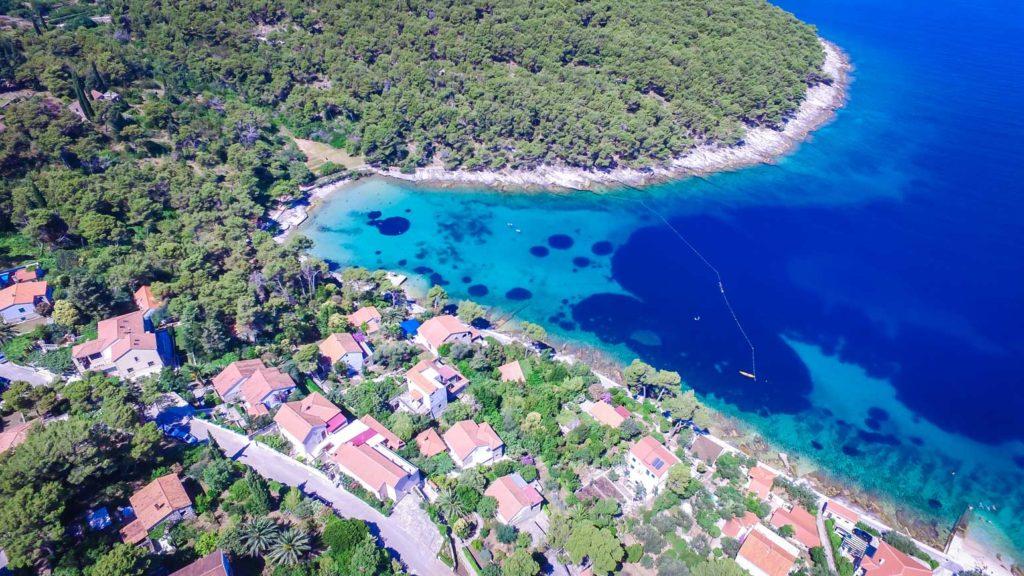 postira-beach-splitska-beach-brac-island-2 Aerial