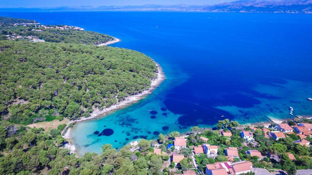 postira-beach-splitska-beach-brac-island-3 Aerial