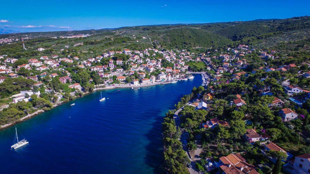 Splitska-Bay,-Brac-Island-(3) Aerial