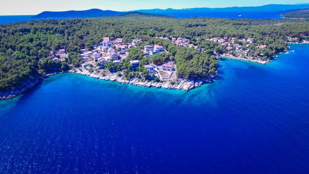 villa-slavica-milna-bay-brac-island-1 Aerial