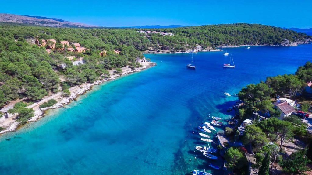villa-slavica-milna-bay-brac-island-24 Aerial