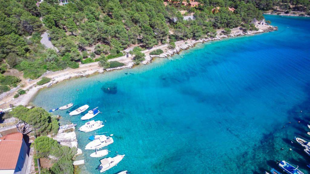 villa-slavica-milna-bay-brac-island-25 Aerial