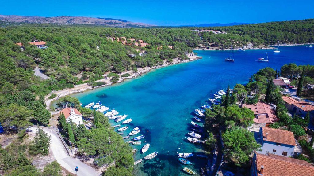 villa-slavica-milna-bay-brac-island-26 Aerial
