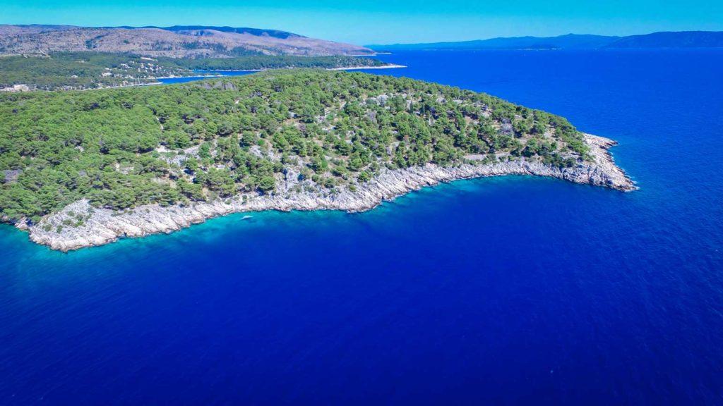 villa-slavica-milna-bay-brac-island-4 Aerial