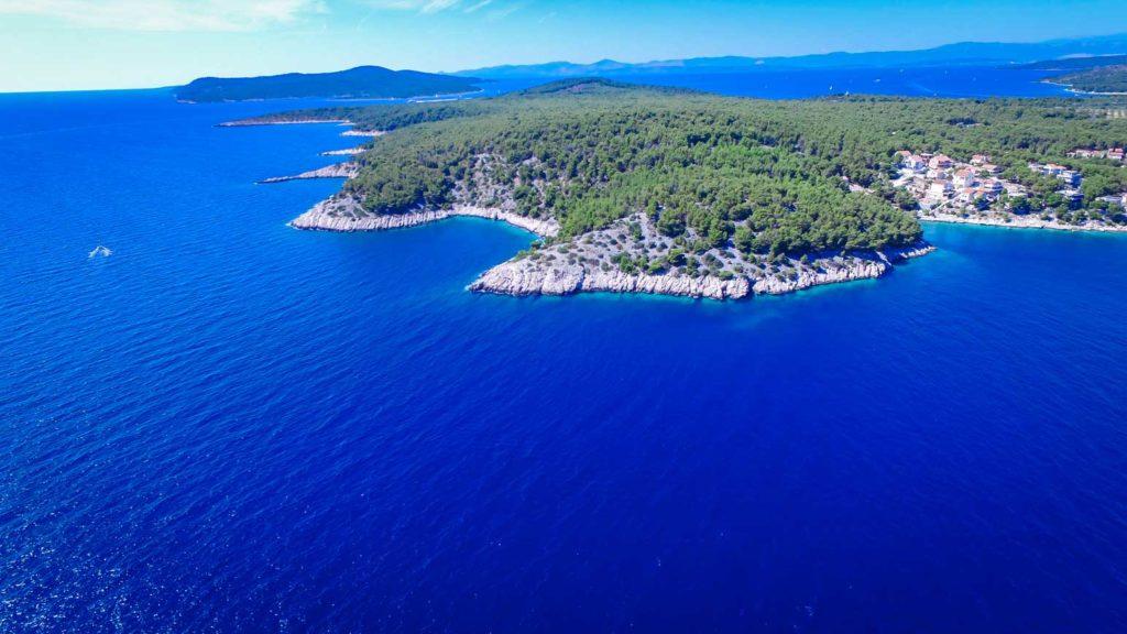 villa-slavica-milna-bay-brac-island-7 Aerial