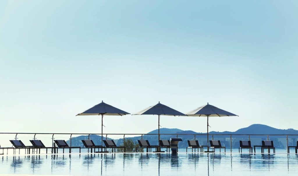Radisson Blu Resort, Swimming Pool, Orasac Bay, Dubrovnik Riviera