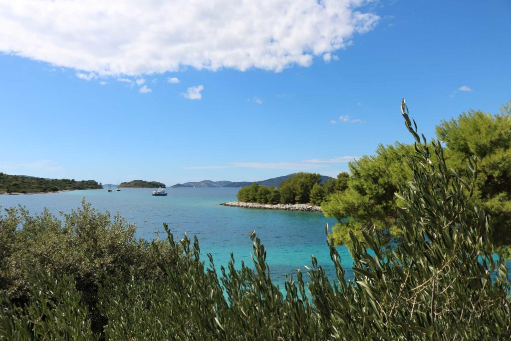 Konoba Duga Beach, near Okrug Gornji, Ciovo, Trogir, Split Riviera (5) Aerial