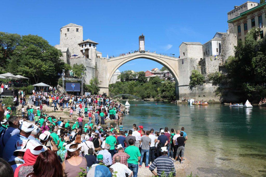 Mostar Old Bridge Redbull World Series Cliff Diving Event (25)