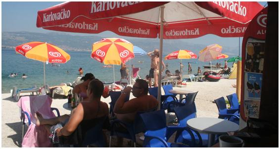 Skrapa Beach Bar, Arbanija, near Slatine Bay, Split Riviera (4)