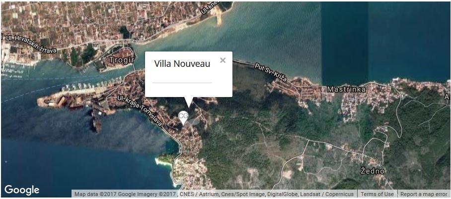Villa Nouveau Map, Saldun Bay, Okrug Gornji, Split Riviera