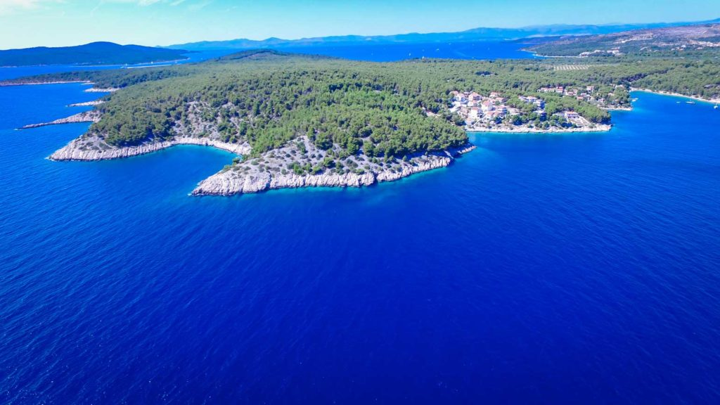 Villa-Bianca-Milna-Bay-Brac-Island Aerial