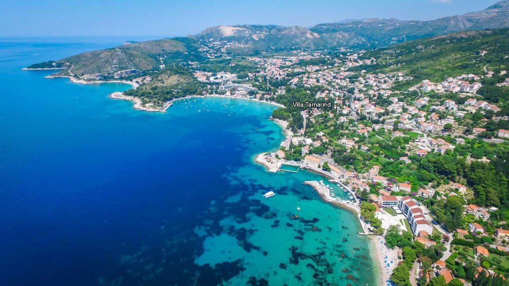 Villa Tamarind, Mlini Bay, Dubrovnik Riviera Aerial