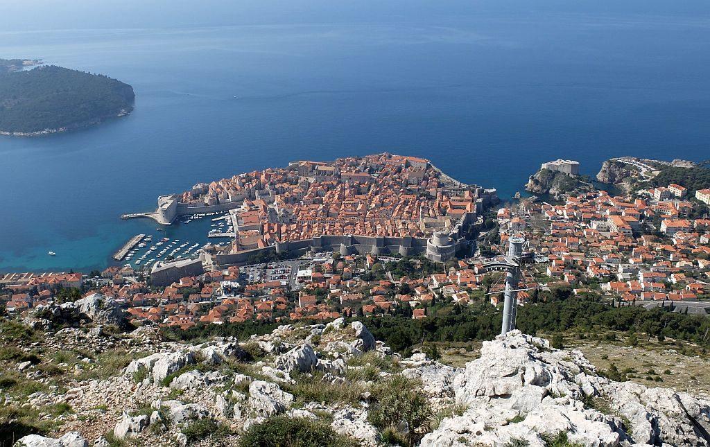 Dubrovnik Old Town (11) Aerial