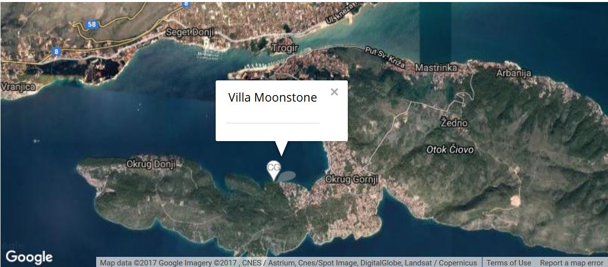 Villa Moonstone Map, Okrug Gornji, Split Riviera