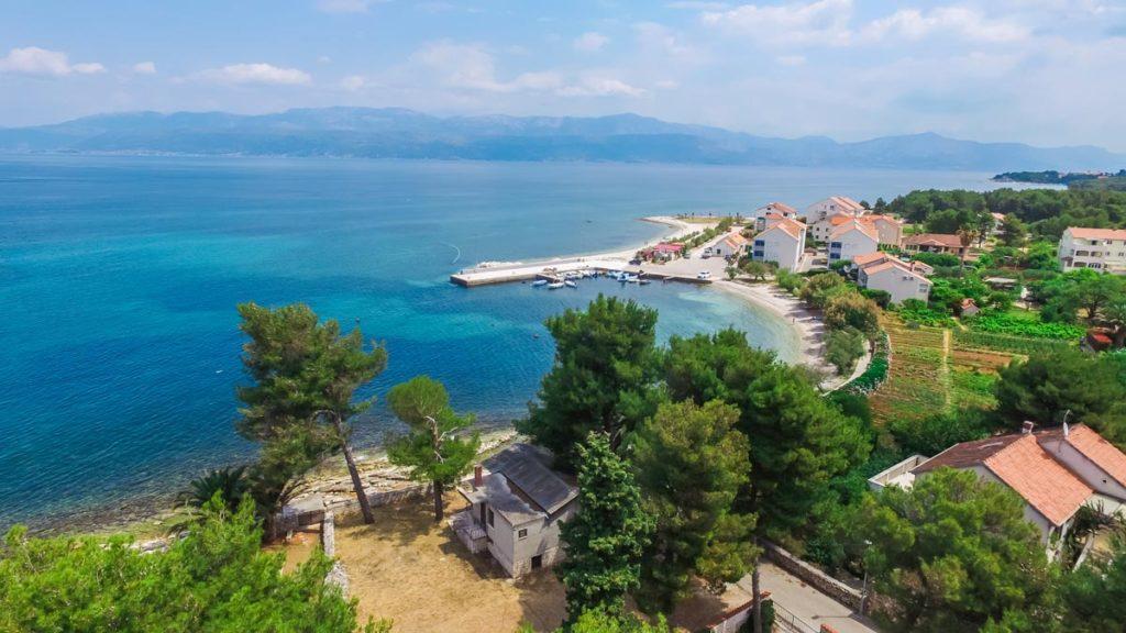 Villa-Nicholina-&-Villa-Corrine,-Mirca-Bay,-Brac-Island-(32) Aerial