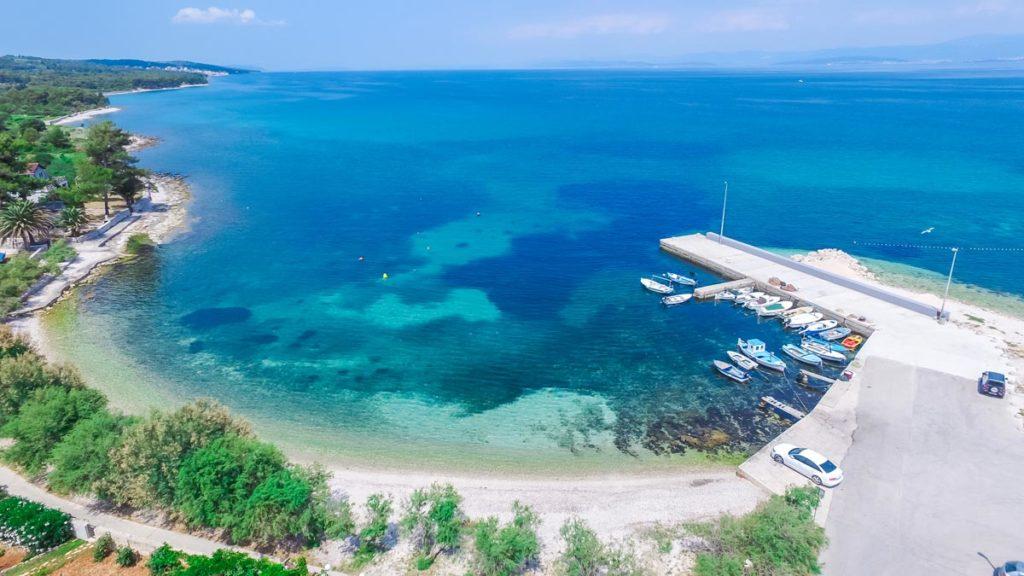 Villa-Nicholina-&-Villa-Corrine,-Mirca-Bay,-Brac-Island-(39) Aerial