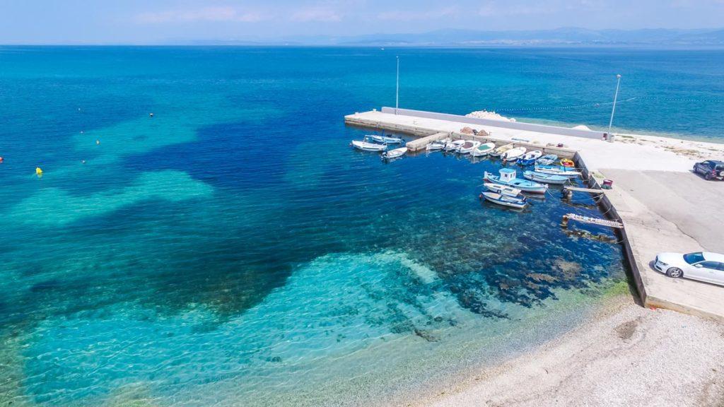 Villa-Nicholina-&-Villa-Corrine,-Mirca-Bay,-Brac-Island-(42) Aerial