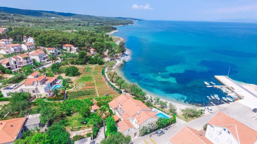 Villa-Nicholina-&-Villa-Corrine,-Mirca-Bay,-Brac-Island-(7) Aerial