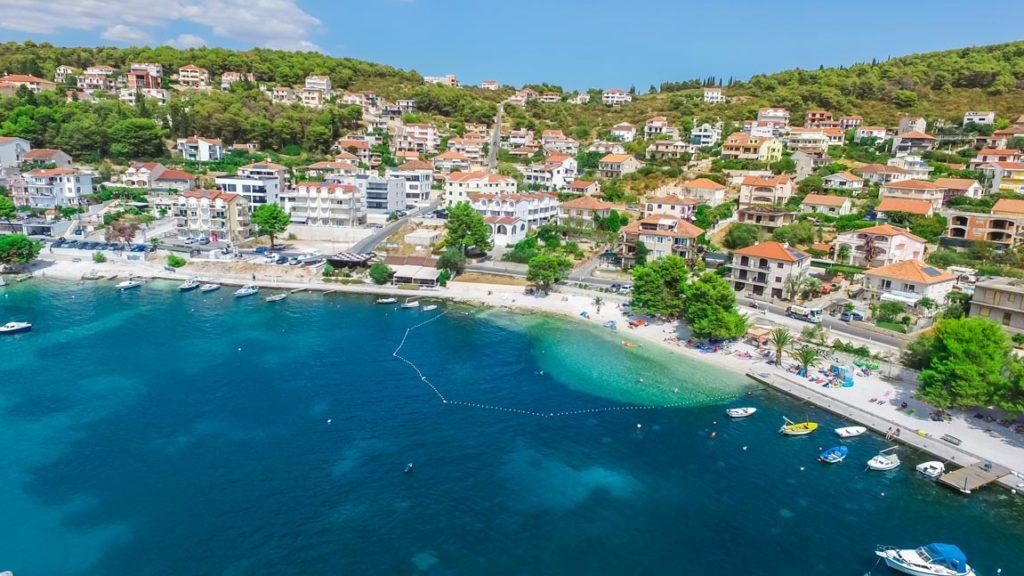 Saldun Bay Beach, Okrug Gornji, Split Riviera (12) Aerial