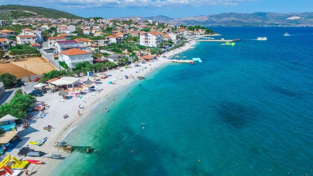 Slatine Town Beaches, Slatine Bay, Split Riviera (1 (30) Aerial